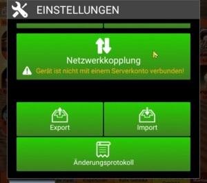 Kassen-Popup: Einstellungen - Netzwerkkopplung