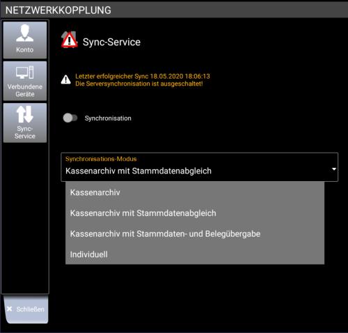 Netzwerkkopplung - Sync Service