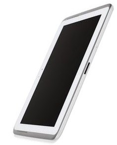 Silbernes Android-Tablet