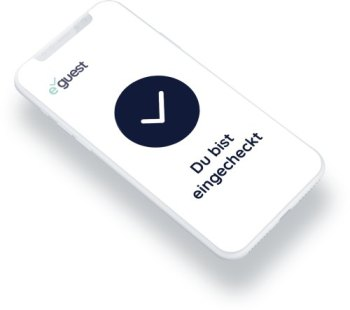 """Handy mit der eGuest-Seite """"eingecheckt"""""""