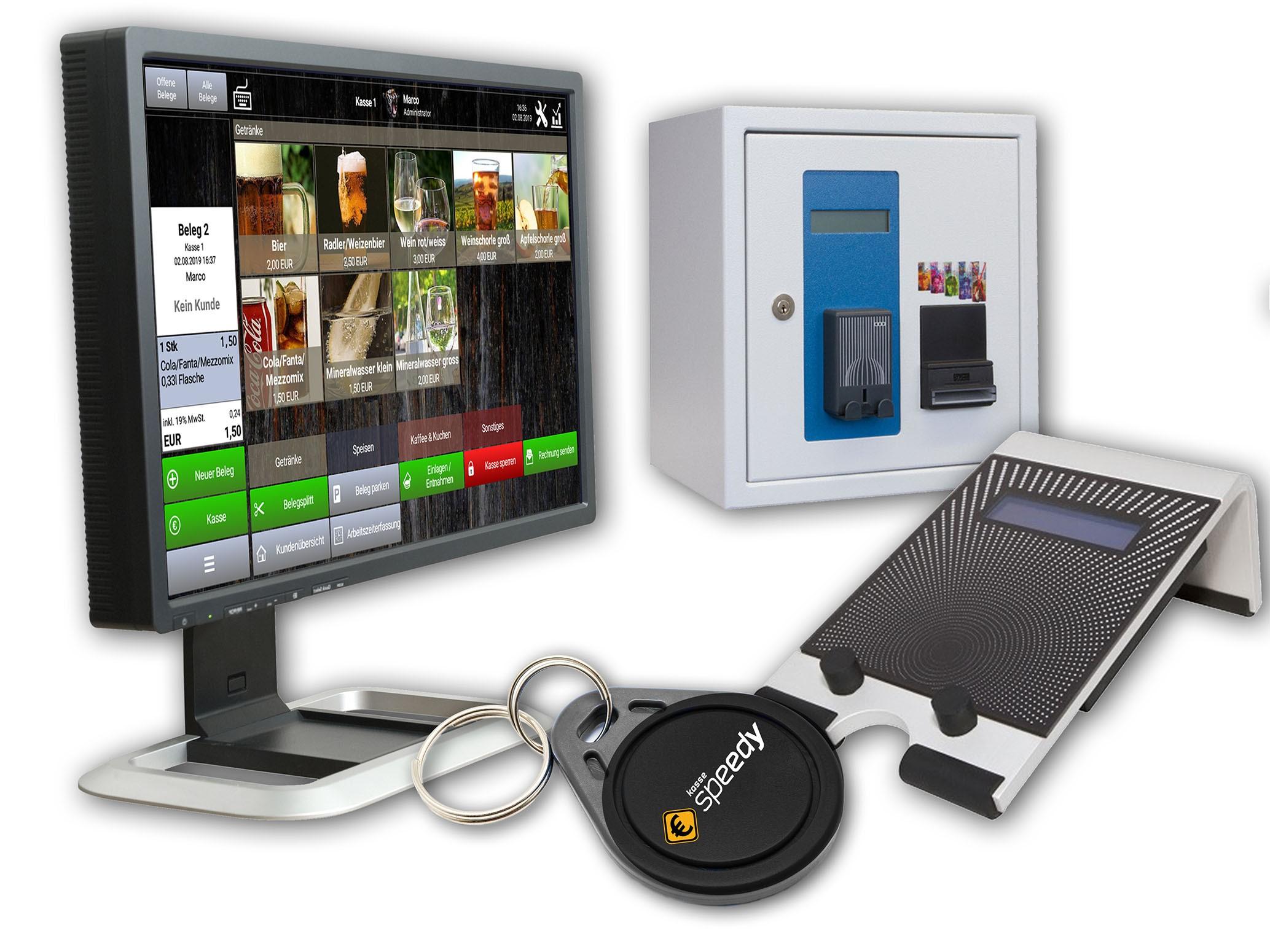 EVIS-Geräte, Speedy-Transponder und Kassenbildschirm