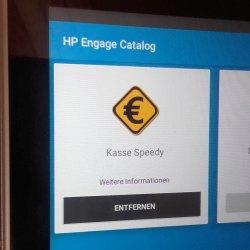Anzeige des Catalog (inkl. Kasse Speedy) auf dem Engage One Prime